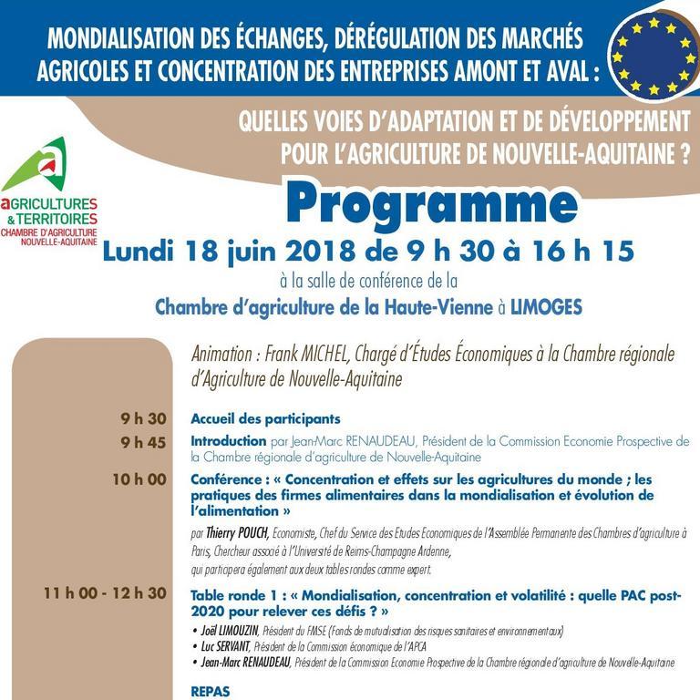 Mondialisation et agriculture de nouvelle aquitaine chambre d 39 agriculture nouvelle aquitaine - Chambre agriculture limoges ...